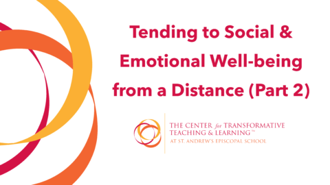 Tending to Social & Emotional Well-being from a Distance: Part Two